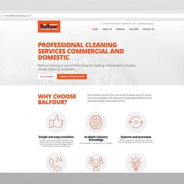 Balfour Cleaning Website